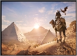 Gra, Assassins Creed: Origins, Bayek, Wielbłąd, Piramidy