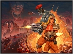 Gra, Blazing Chrome, Postacie