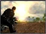 Just Cause 1, Jazda, Motocyklem, Screen