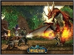 World Of Warcraft, postacie, smok, walka, fantasy, grafika