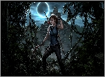Gra, Shadow of the Tomb Raider, Lara Croft, Noc, Księżyc