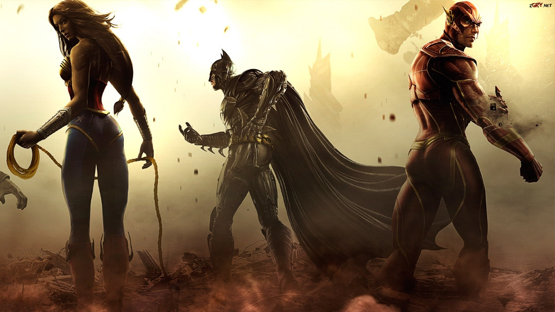 Injustice Gods Among Us, Wonder Woman, Batman, Flash