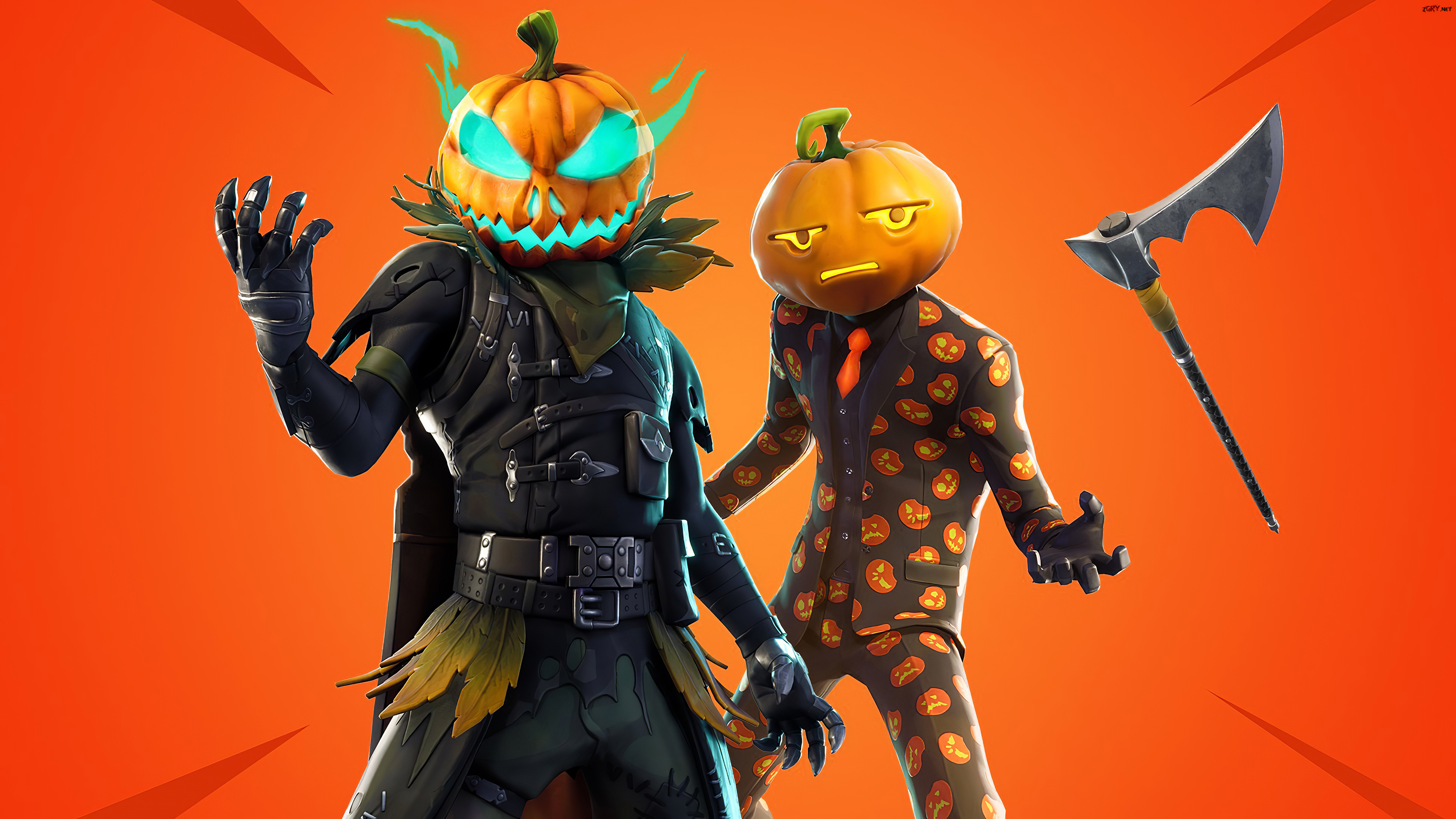 Gra, Fortnite, Halloween, Postacie